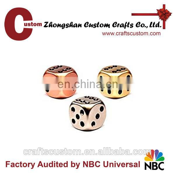 Custom 12mm 8sides metal engrave mini dice