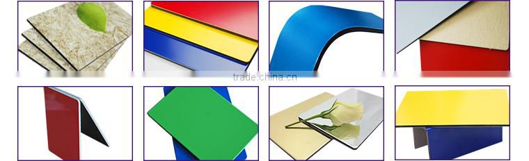 Alucoworld building aluminum composite panel Shock resistant, water proof aluminium composite sheeting