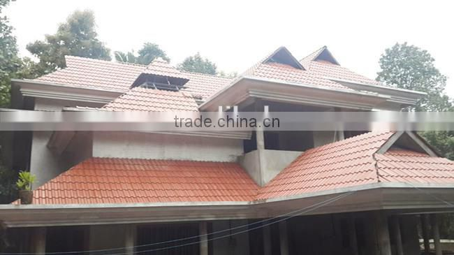 Best selling building construction materials, cheap interlocking glazed transparent roof tile