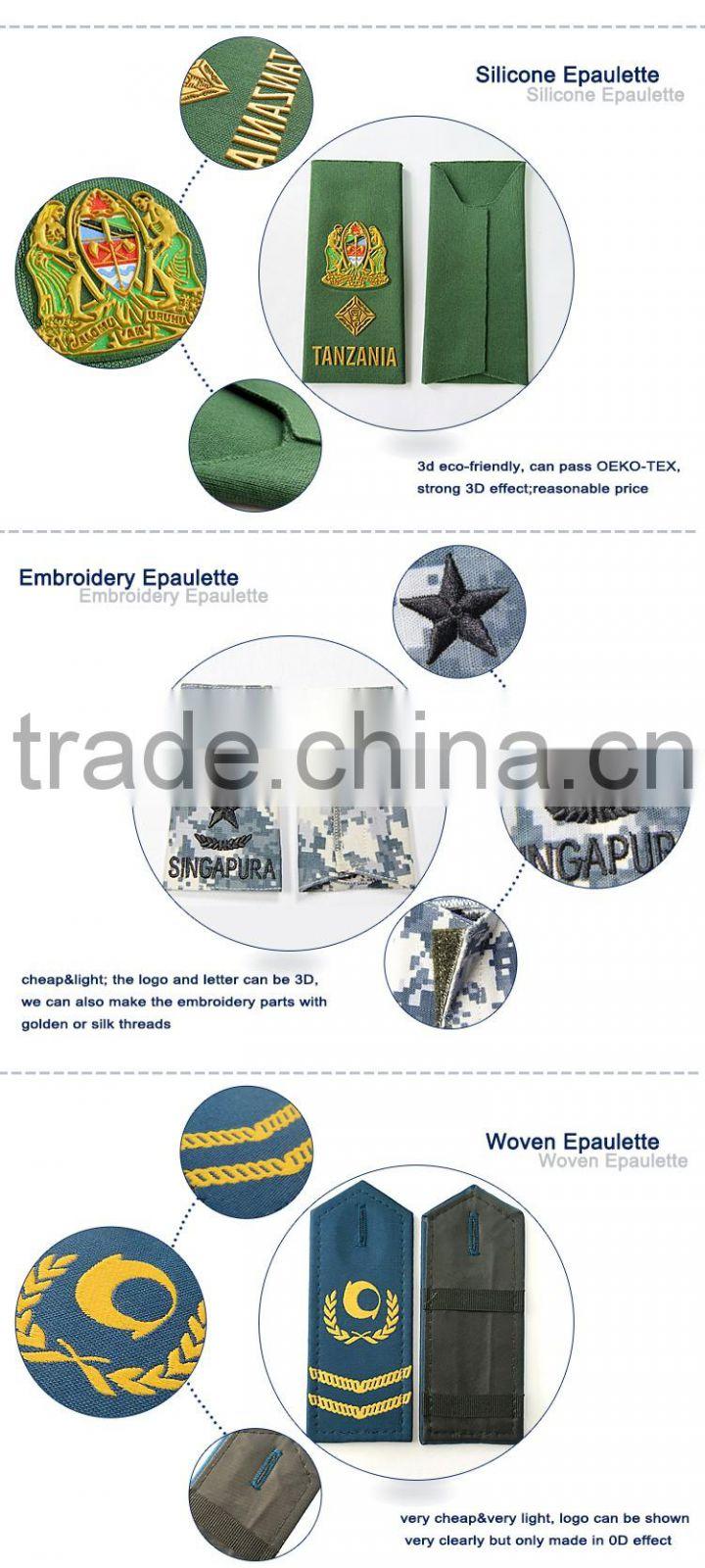 Custom design military uniform shoulder plastic epaulet of
