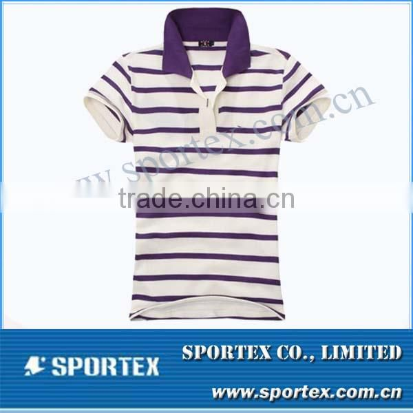 Fashion stripe goft shirt / customized polo shirt