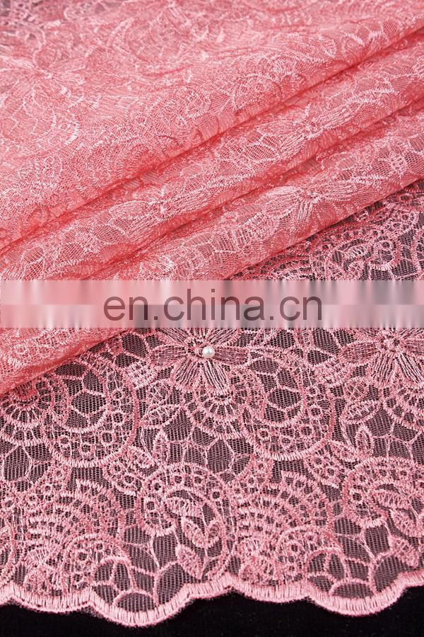 High quality african organza lace with beads