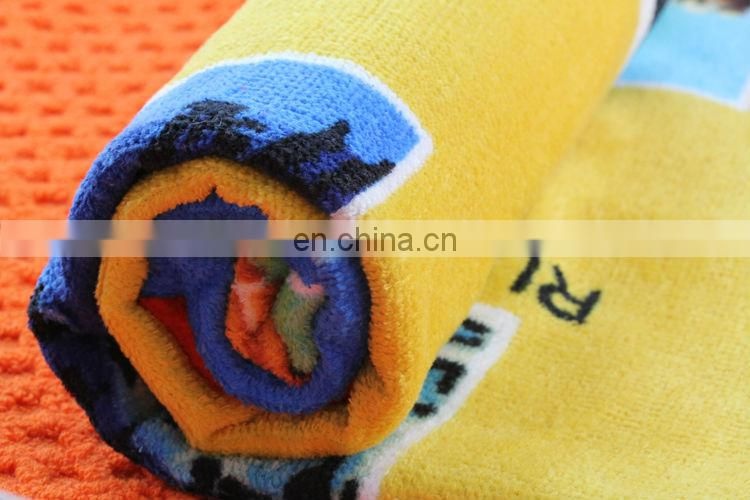 100% cotton jacquard beach towel multi-color velour printed beach towel