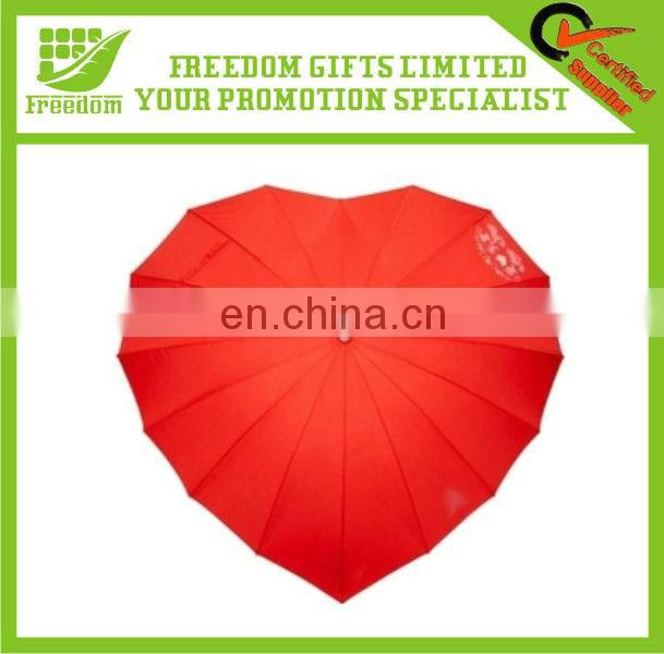 Love Hearted Shaped Promotional Valentine Umbrella