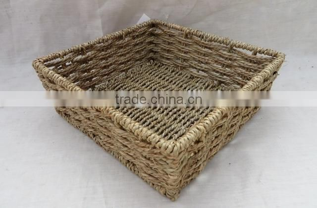 Cheap price handwoven straw bread basket