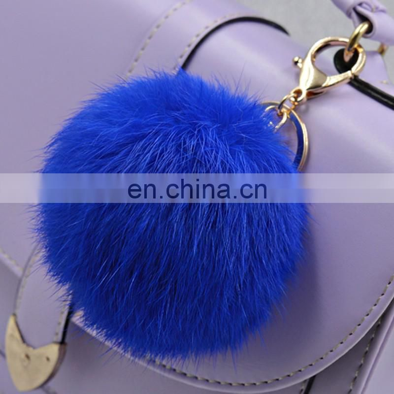Big rabbit fur ball bag charm cute fashion rabbit fur accessory wholesale