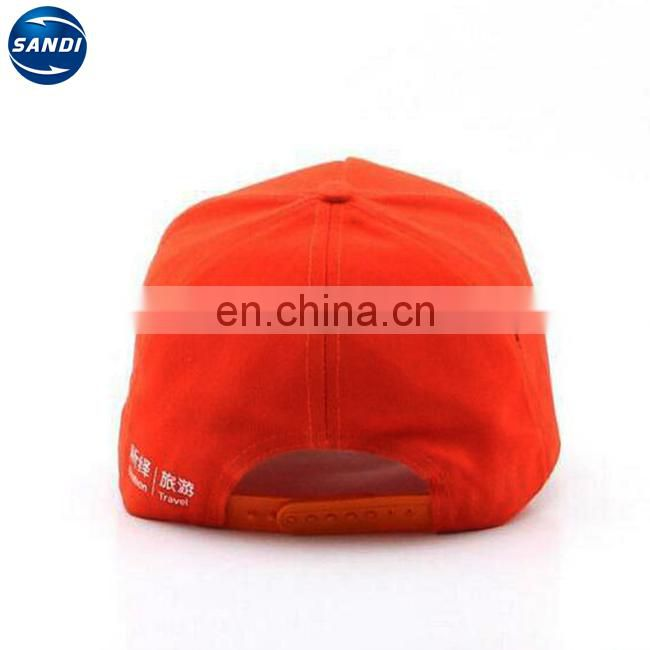 Promotional custom 3d embroidery cap snapback
