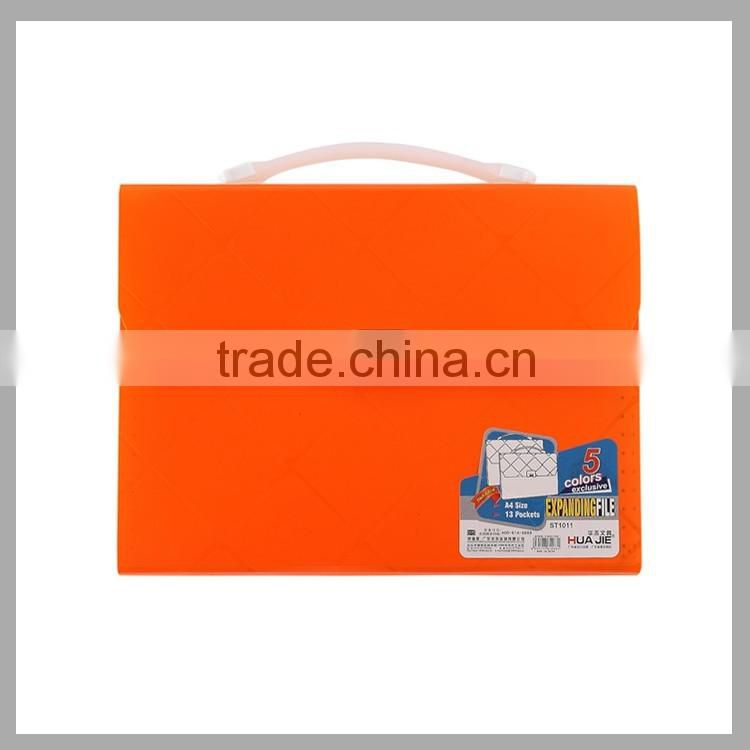 PP Plastic Office Document Storage Bag Portfolio Case Box File Expanding File Folder with Handle