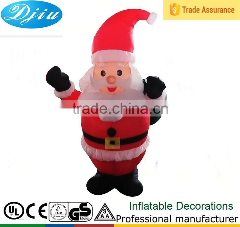 DJ-152 red hat standing santa claus inflatable decoration with led light outdoor