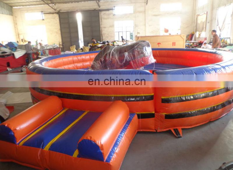 2017 Most Popular Machine Outdoor Sport Games Adults inflatable Rodeo bull