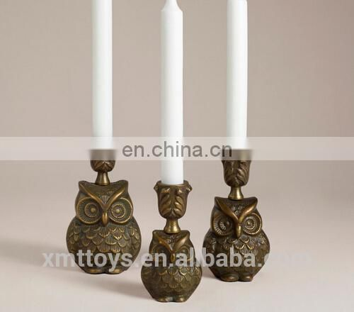 polyresin owl candle holder candle stand