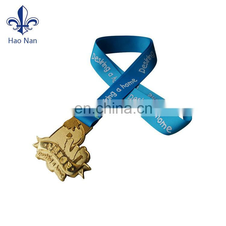 Arts and Crafts Custom Metal and Sports Medals with Ribbon