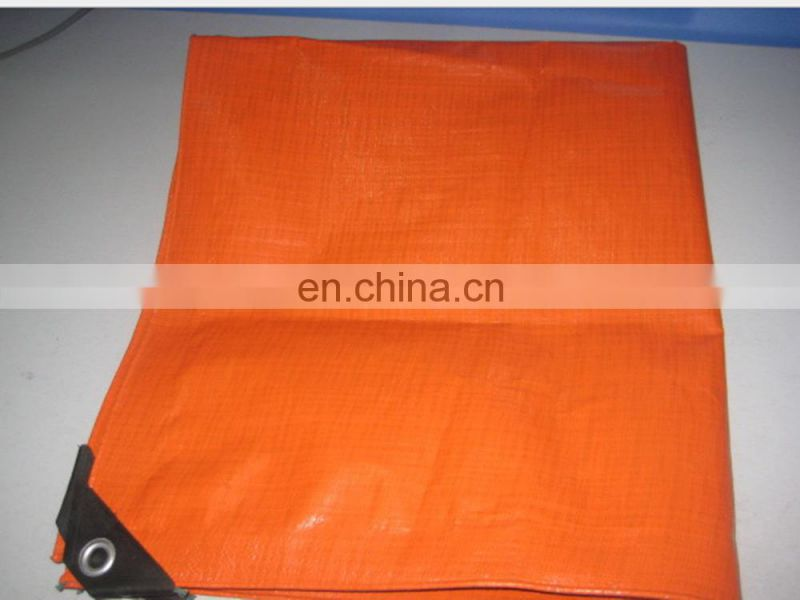 orange insulated waterproof PE tarpaulin used for truck covering Image