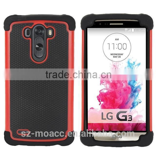 new arrival Football lines 3 in 1 silicone shockproof case for lg g3