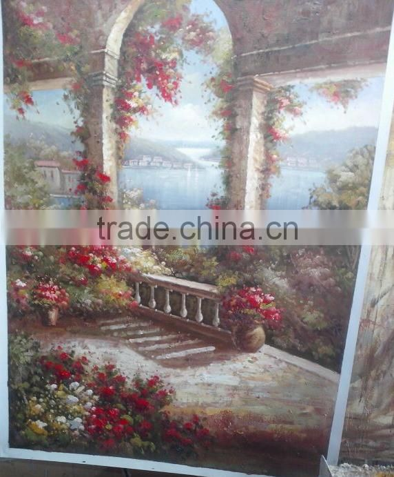 Quality Handmade Garden Oil Painting on Canvas