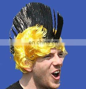 Fancy Multi Colour Punk Mohican Rocker Wigs Mohawk Wig for NFL/NBA/MLB/NHL sports