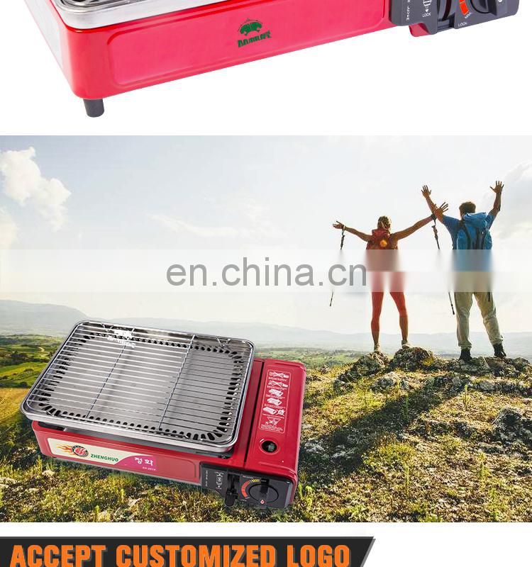 ODM/OEM cool rolled steel and mini BBQ portable camping gas bbq with bbq gas grill