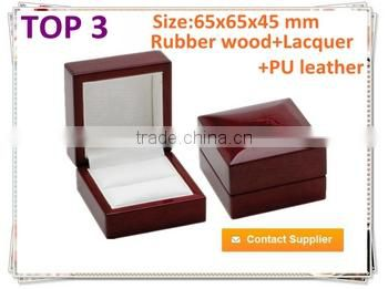 Fancy Solid Wooden Ring Case,Wooden Gift Craft Box