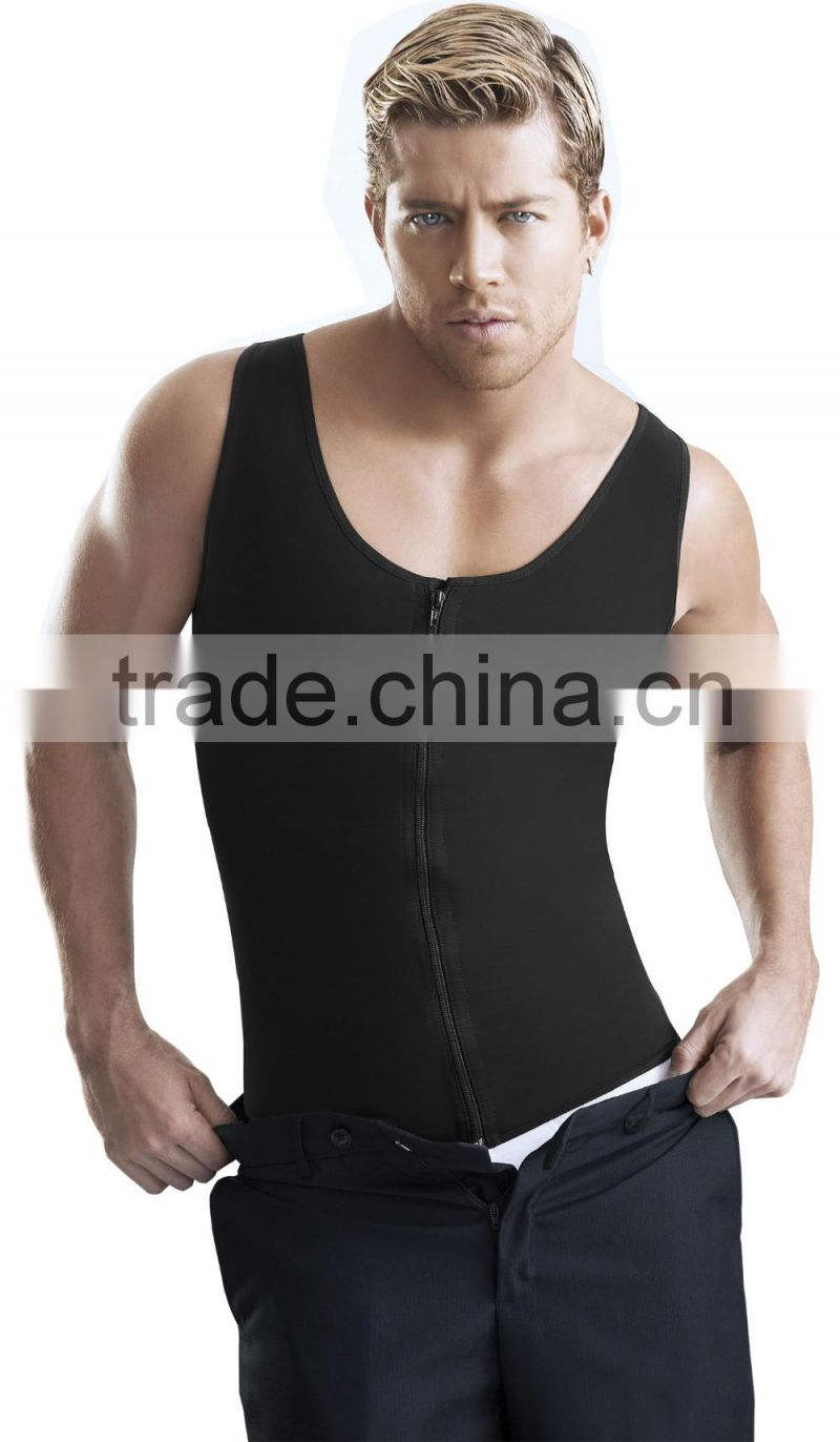 Weight Loss Body Shaper Mens Shapewear Top Neoprene Training Waist Cincher Vest Corset For Men