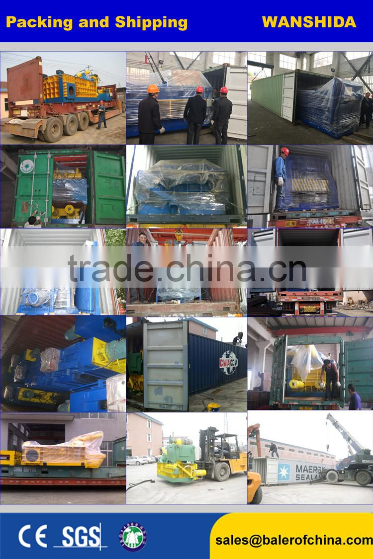Hydraulic used clothing baler/used clothes baler Press machine