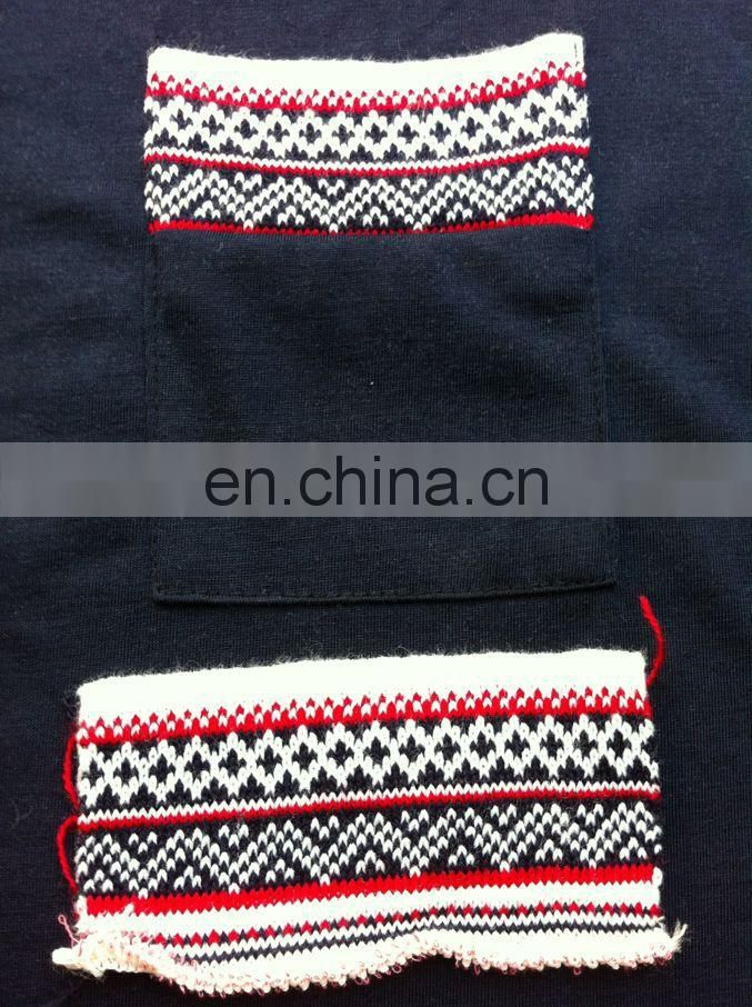 Peijiaxin Long Sleeve O-neck with Woolen Yarn Pocket T shirt with Wholesale Price