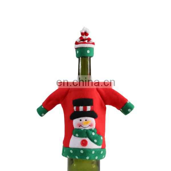 Christmas day decoration wine gift bags and the santa ,snow and deer bottle bags