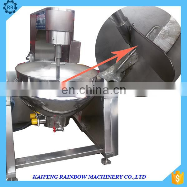 food grade stainless steel gas or electric or steam jacketed  kettle tomata sauce jacketed kettle with agitator