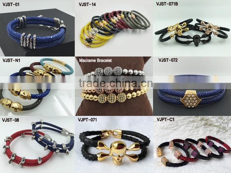 8mm Pyramid Beads Bracelet Fashion Men Jewelry Young Men Gift Football Fan Sports Wristband