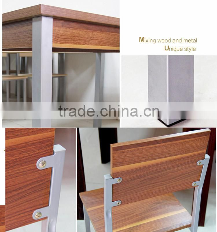 General use modern appearance custom color and size wooden bar table set cheap 2 person dining table