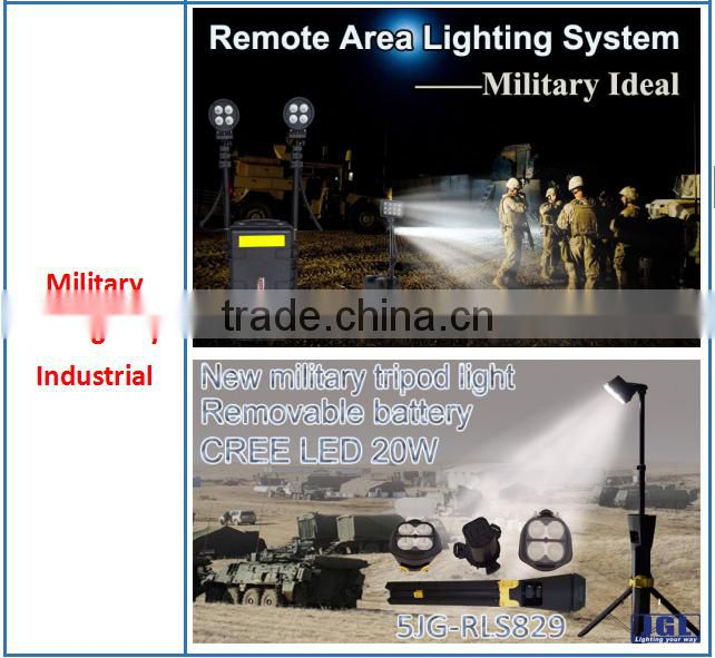 GZ JGL heavy duty rechargeable searchligh military equipment RLS-72w 4000lm high power LED rechargeable military operation light