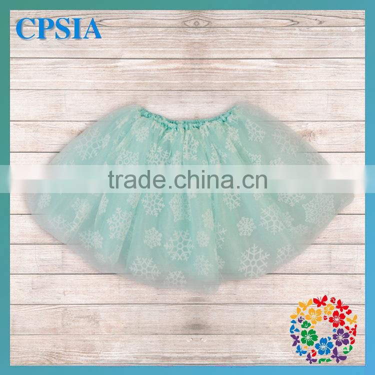 Snowflake Children Tulle Skirt Baby Boutique Wholesale Professional Ballet Tutus