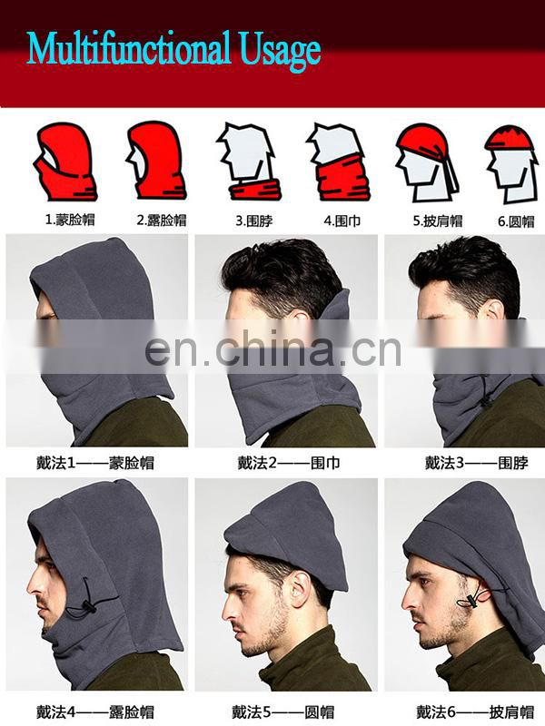 Skiing face mask neck warm balaclava fleece winter headwear