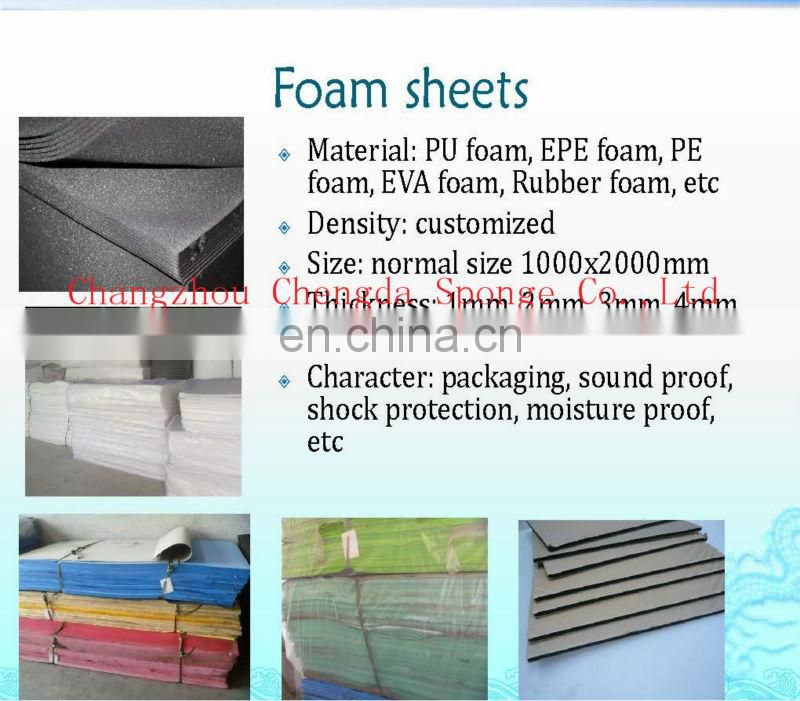 China factory directly sell inert packing material, cushioning&protective PU foam sheet