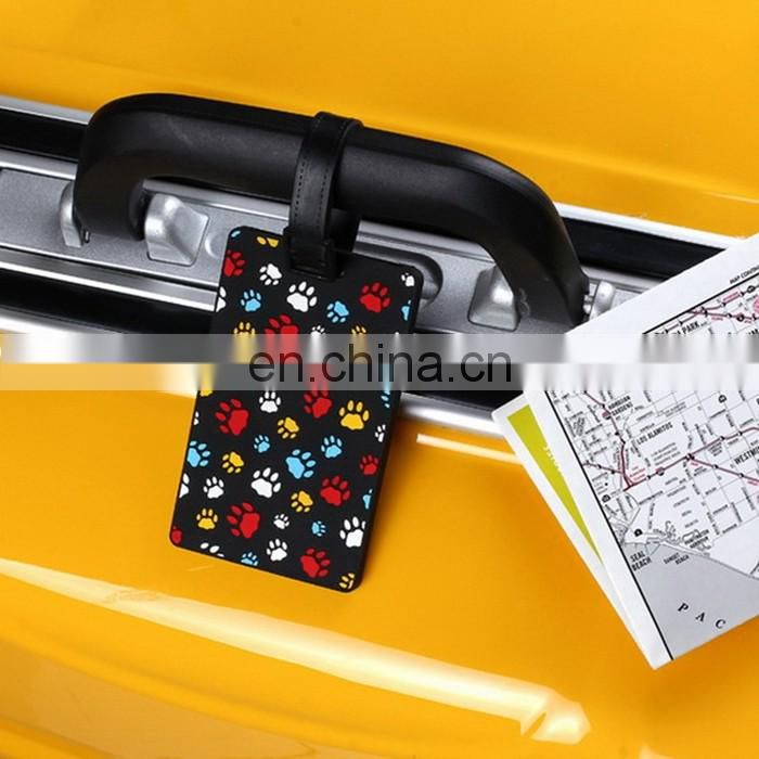 Hot Selling Low Price Oem Silicone Baggage Tag Various Colors 3D Silicon Luggage Tag
