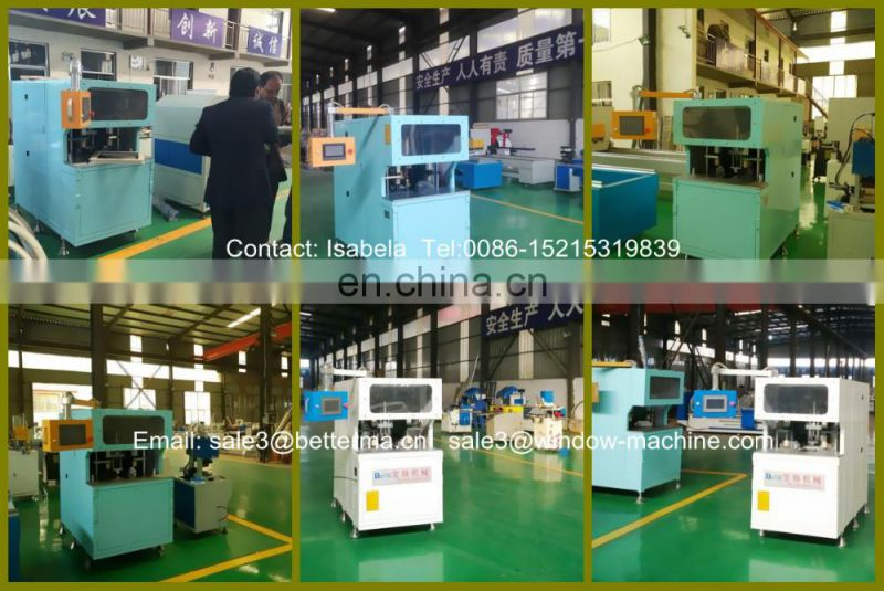 Welded UPVC PVC window corner cleaning machine for surface cleaning