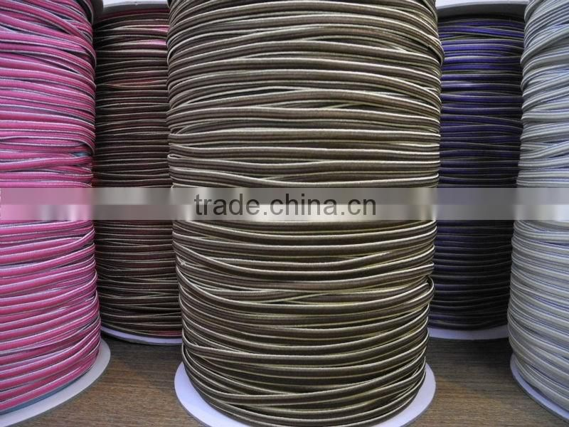 Round Elastic Cord Nylon/Polyester Latex Rubber Elastic Waxed Thread For Sewing Shoes