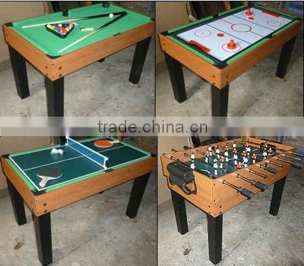 "43"" 4 in 1 game table set with leg including football,billiard,pingpong and air hockey"