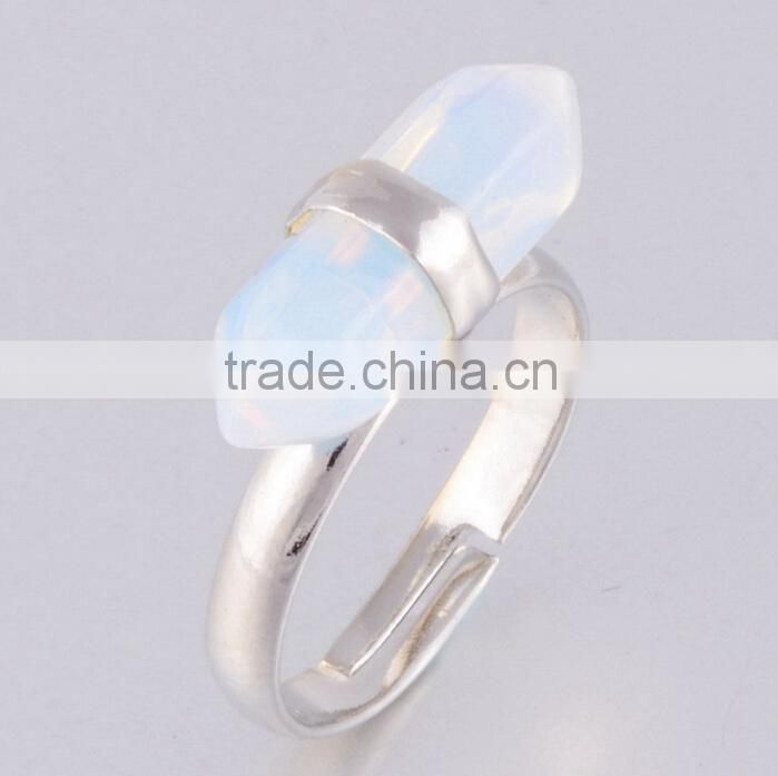 2015 Beautiful White Fire Opal Jewelry Gemstone rings