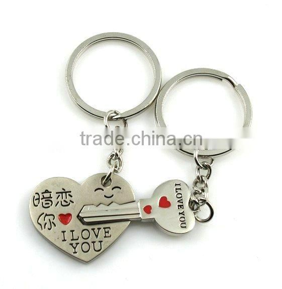 Fashion Sweet Boy And Girl Lovers Keychain