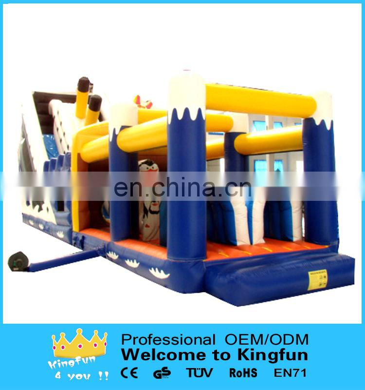 Titanic inflatable obstacle course /inflatable playground games