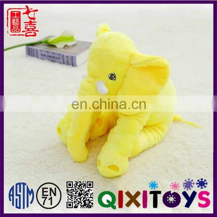 2017 New high quality cheap elephant soft plush toys wholesale custom made color and size