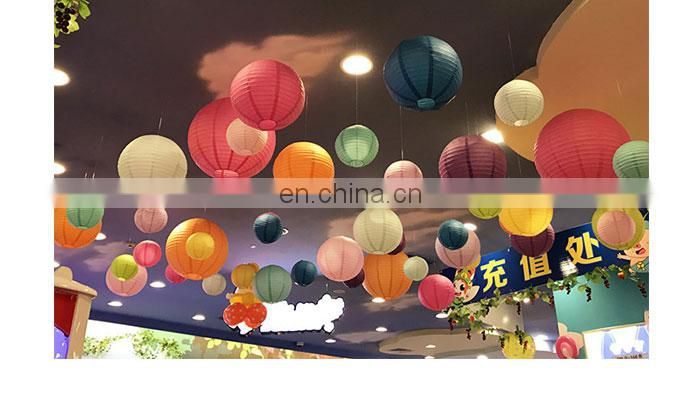 Paper lantern high quality 32 color wedding Hallowmas party paper lantern