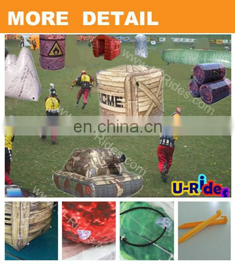 air sealed inflatable paintball bunker paintball vehicle for fun