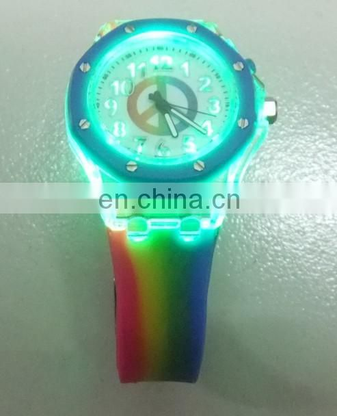 Flashing Light Silicone Watch/ Night Light Silicone Watch