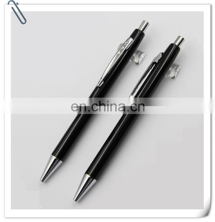 diamond decoration parts promotion gift high quality Metal ball pen and roller pen