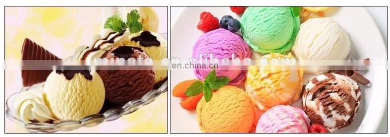 High quality table top automatic discharging hard ice cream machine