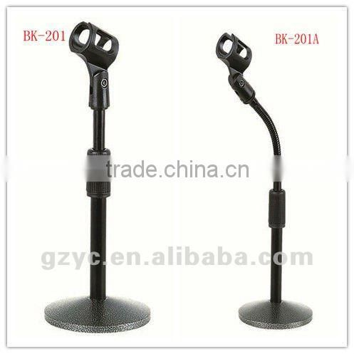 rockered microphone table stand