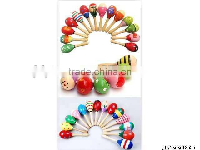 Hot selling wooden baby rattle toy,musical baby bell toy,musical toy