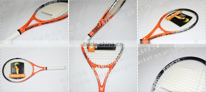 2016 new frame carbon and aluminium composite tennis racket OEM factory