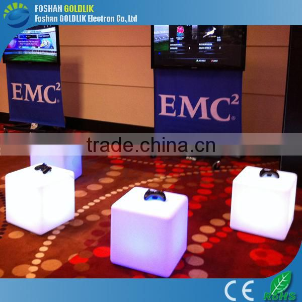40cm LED Cube for Wedding Decoration, Battery Powered LED Cube Chair